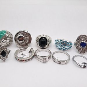 Lot of 10 Fashion Rings